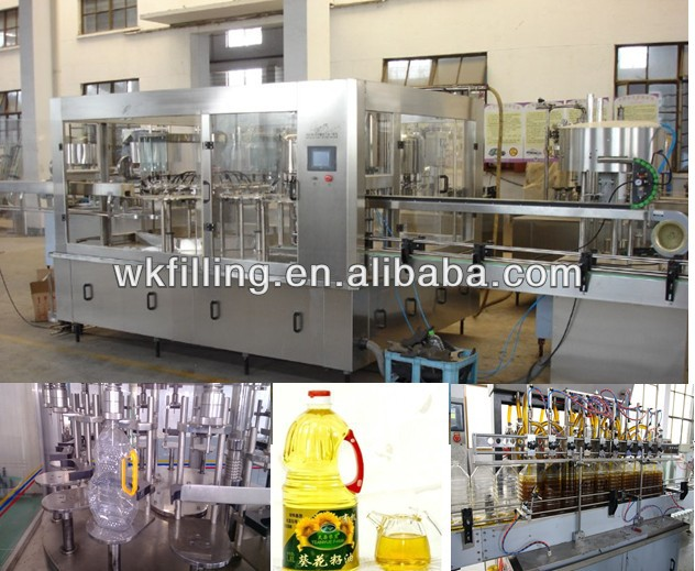 China Edile Oil/Vegetable Oil/Cooking oil Filling Capping Machine