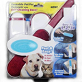 Pet Fur Lint Remover with Self-Cleaning Base Double-Sided Brush Removes Dog & Cat Hair from Clothes & Furniture