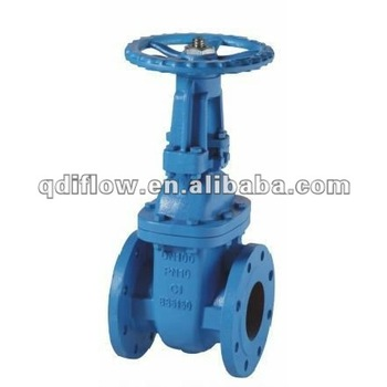 BS5150 PN16 flange gate valve cast iron body OS & Y design