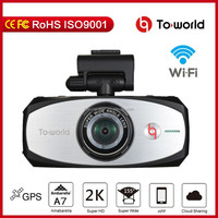 Hot sale 2.7 Inch night vision h198 hd 1296p dual camera hd mini car camera