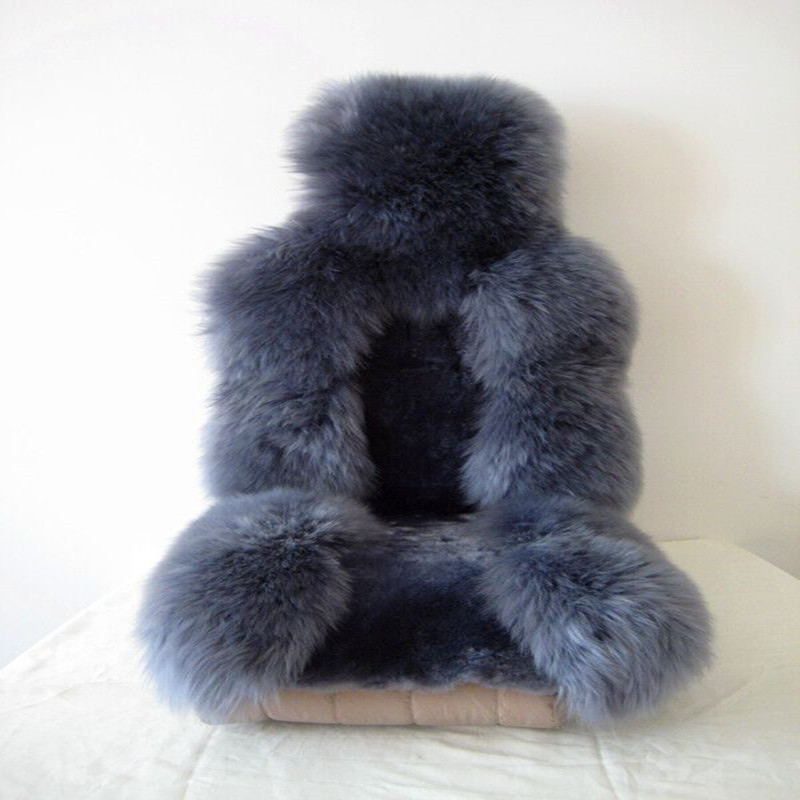 Long Fur Sheepskin / Fake Fur Car Seat Cover