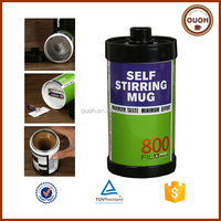 Awsome Mug For Old Camera Fans Hot Stainless Steel Roll Film Self Stirring Christmas Mug