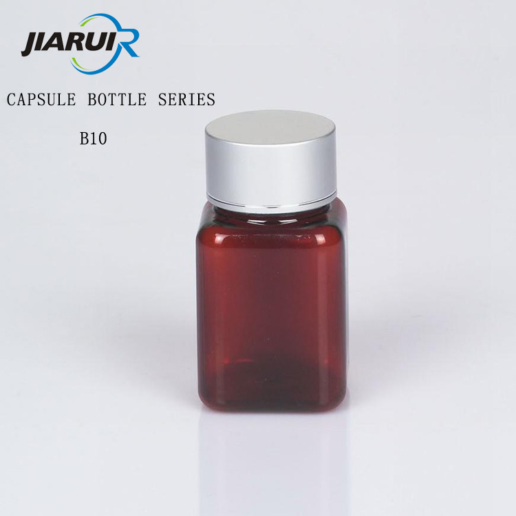 Dark brown plastic capsule bottle for health care products