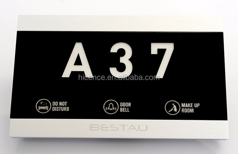 433 Wireless Hotel Room Number Signs DND Door Bell Plates