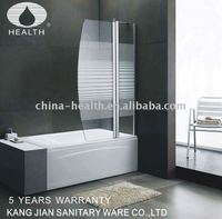 Glass bath shower screen JK116