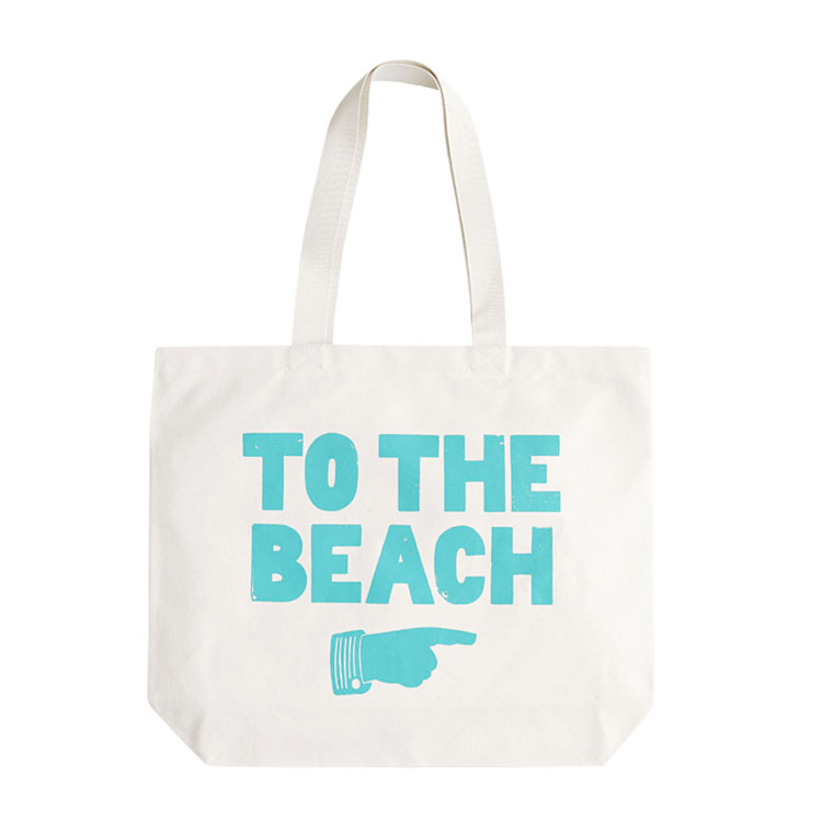 white canvas beach wholesale reusable folding shopping bag