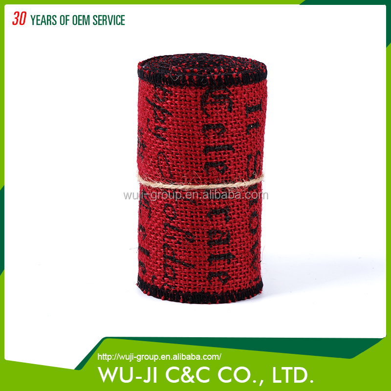 Eco-friendly christmas celebrate gift wrapping ribbon