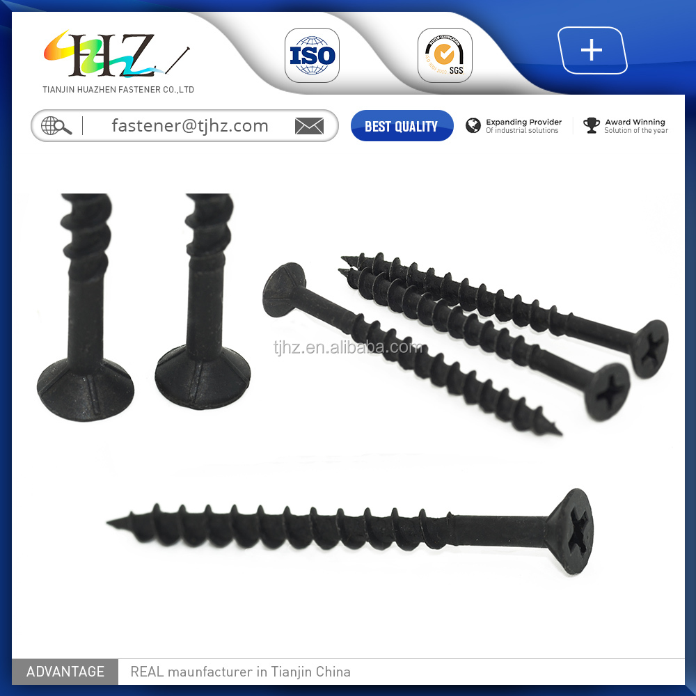 Alibaba website stainless <strong>steel</strong> jewelry black phosphated bugle Coarse drywall screw