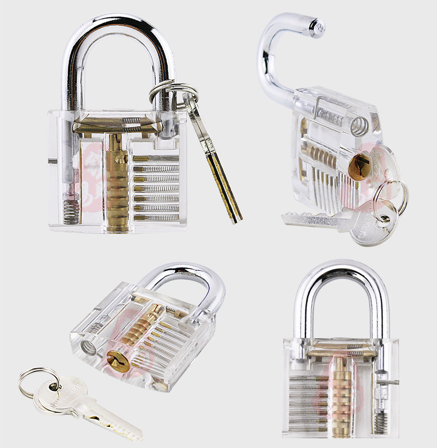 Unlocking Lock Pick Set and Key Extractor Tool With Transparent Practice Pad lock kit set