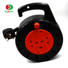 Wholesale multifunction industrial plastic 50m 100m small mini automatic electrical extension retractable power cord cable reel