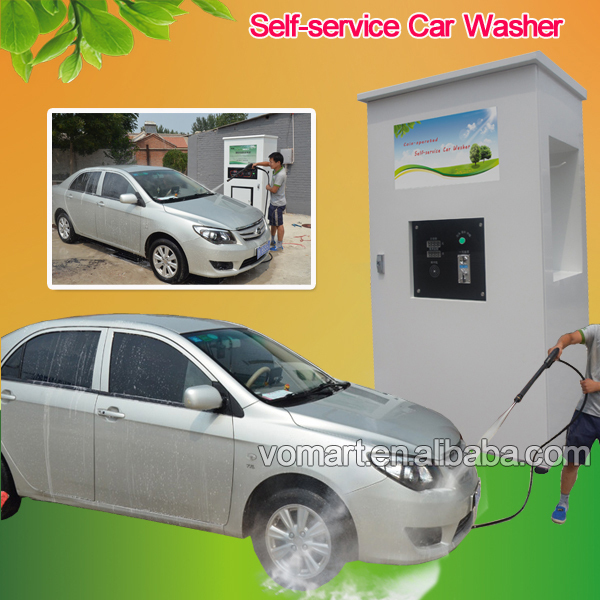 Automatic coin/card operated car wash self service/car washing machine/self-service plunger water pump high pressure