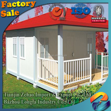 light steel frame prefab 40ft portable flatpack 20ft container house villa