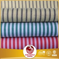 Stripe design polyester cotton t-shirt fabric
