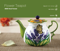 SEED Hand Painted Flower Tea Pot
