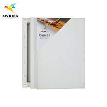 420 gsm Gallery Cotton Rectangle White Art Canvas for Painting Studio