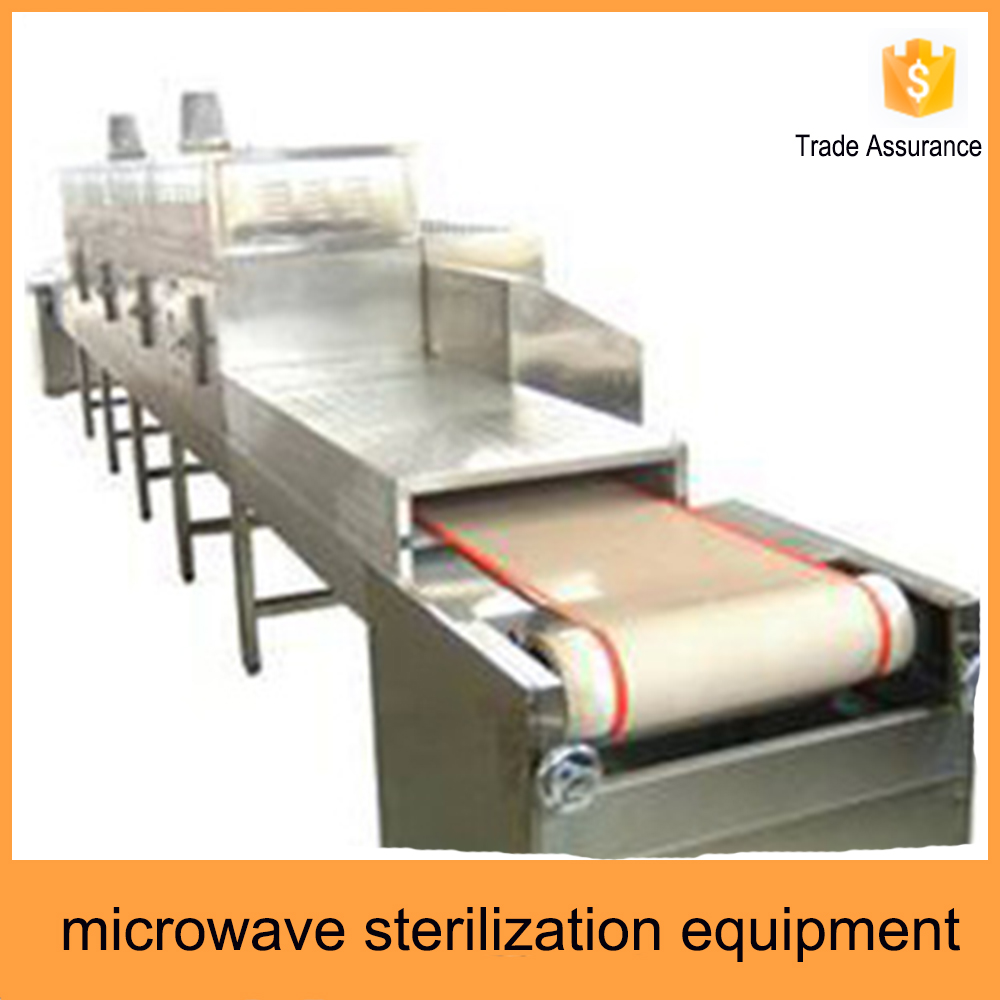 good price easy to control belt type microwave food sterilizer for microwave sterilization equipment