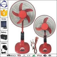 China Guangzhou factory Newest model 16inch 3/5blades solar 12v dc fan