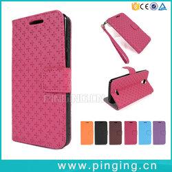 Wholesale Cross Pattern Card Slot PU Leather Flip Case For Myphone My81