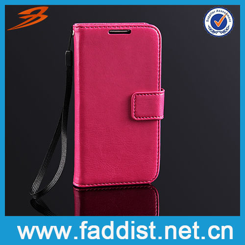 Leather Flip Cover for Samsung Galaxy s4 mini i9190 i9192 Hot