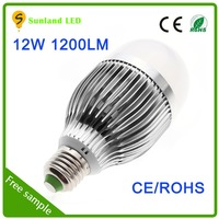 Long lifetime CE ROHS SMD5730 12w led bulb with aluminum housing and plastic cover