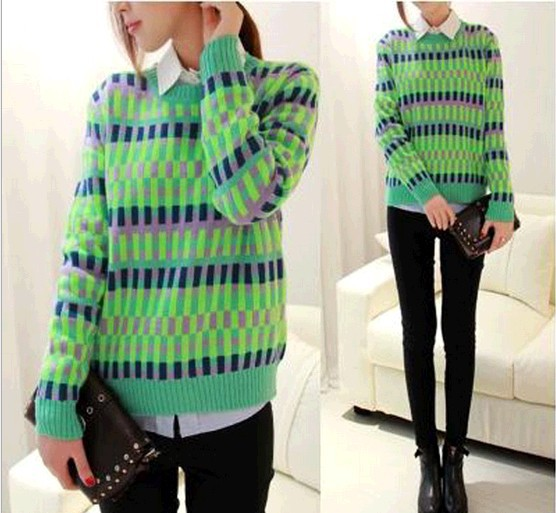 D86352H latest design winter women's thick europe sweater