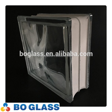 flat clear glass brick glass block with round edge from factory