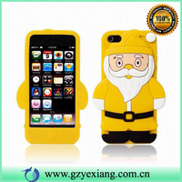 2016 mobile phone accessories chrismas silicon cover case for iphone 4 4s