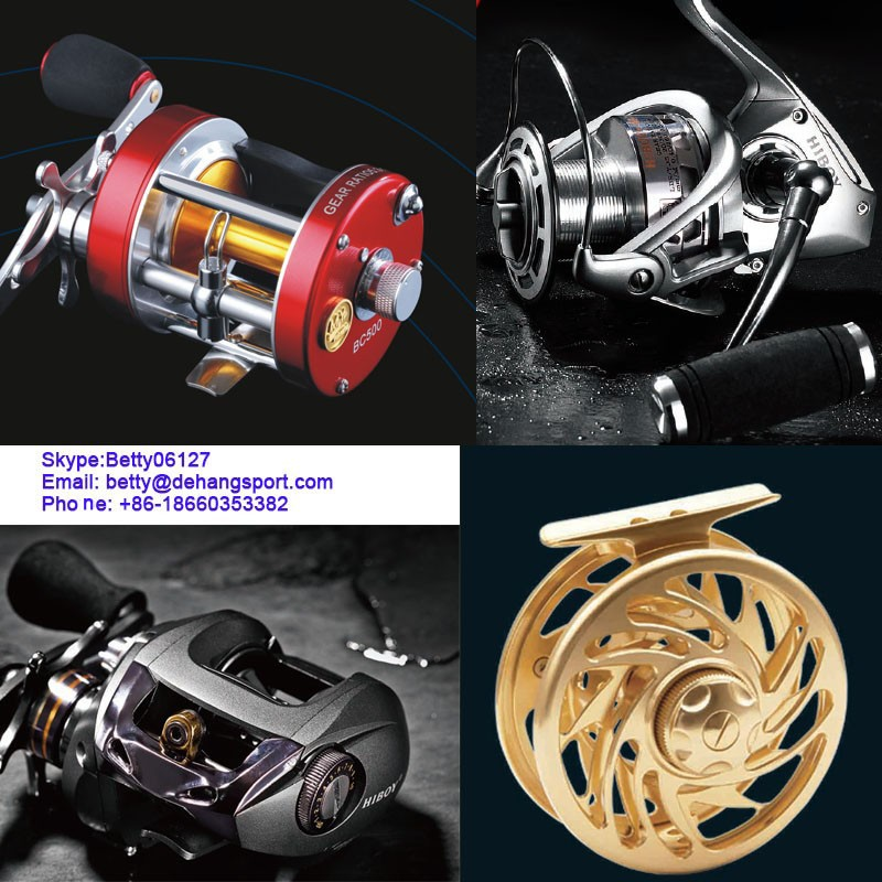 Hard Treated Aluminum Jigging Fishing Reel
