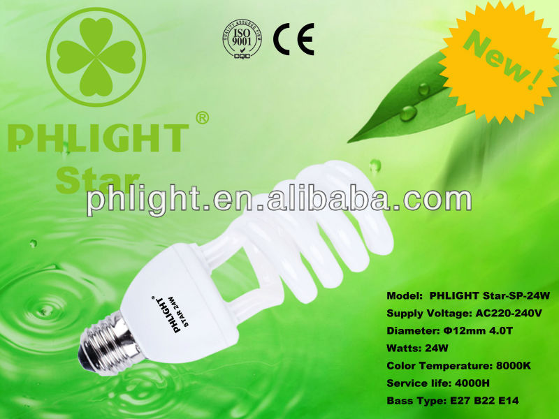 Promotion!2013 New Product 12mm 4.0T Half Spiral Energy Saving Light Bulb