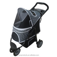 Folding Pet Carrier Stroller For Travel Outside