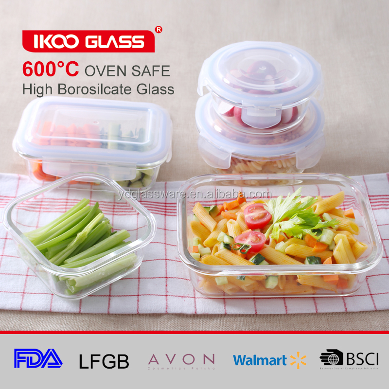 glass refrigerator microwave oven heat lunch box
