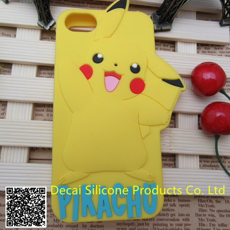 custom silicone decorate cell phone case with high quality and Luxury pack