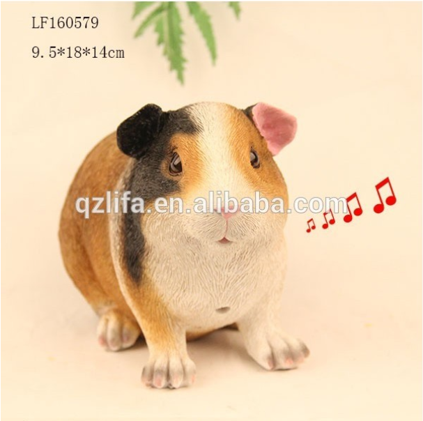 motion sensor resin x hamster for animal toy