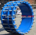 Large diameter double flange dismantling expansion joint
