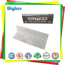 1 1/4 mini size 100% natural orgainc gum rolling paper with watermark