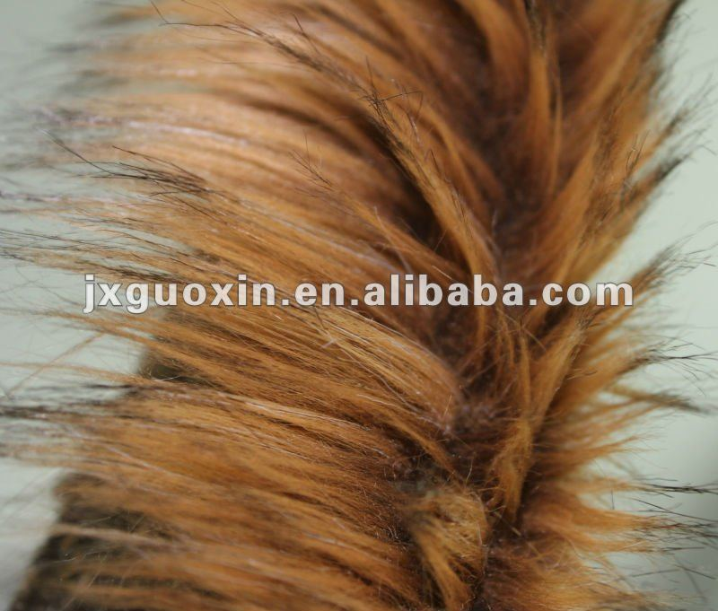 Long pile plush faux fur fabric