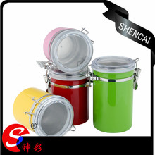 High quality colorful metal canister set for food storage