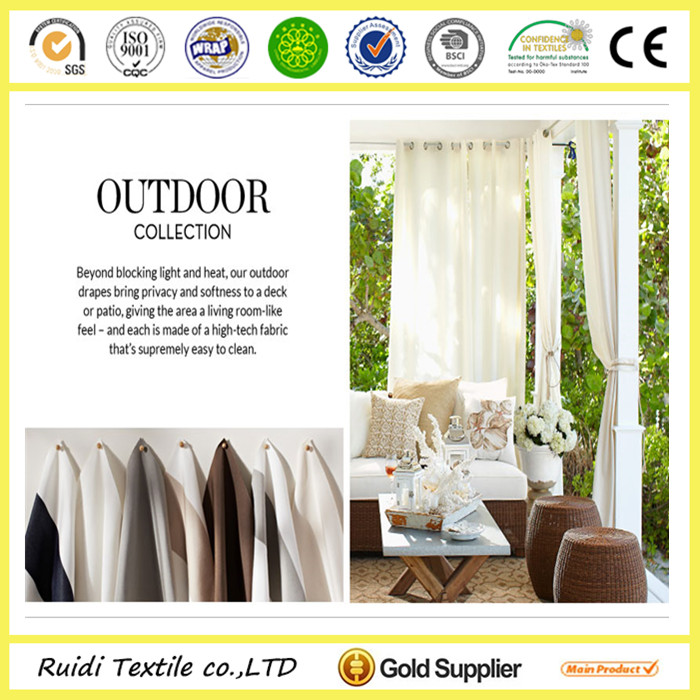 Natural Linen Ready Made Outdoor Curtain