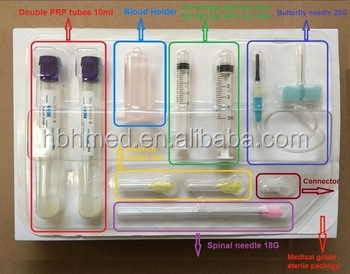 8-15 ml Non-pyrogenic Platelet Rich Plasma PRP Kit