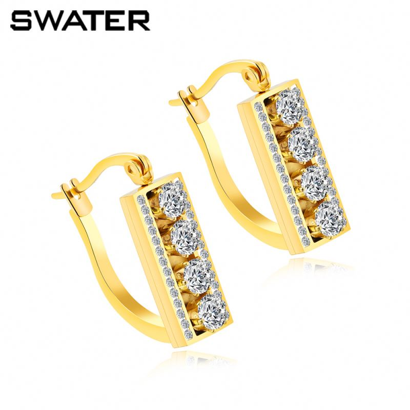 Wholesale Earrings Jewelry Fashion Costume Cubic Zircon Dubai 24K Gold Jhumka Earrings