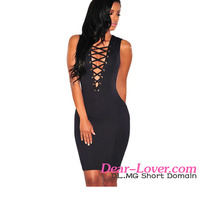 Formal Summer cute short Black Lace Up Sleeveless low price homecoming dresses
