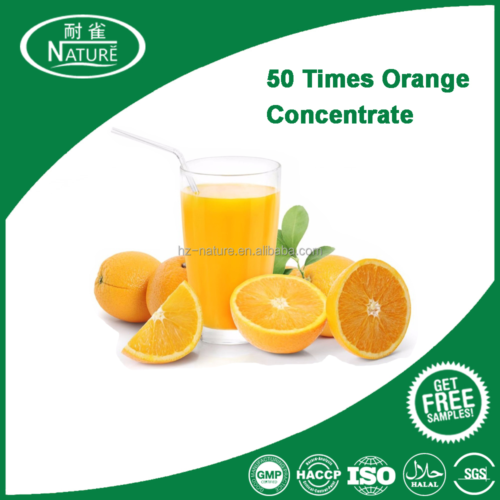 50 times-concentrated orange syrup orange high concentrated juice