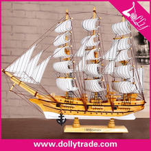 best selling miniature wood crafts/sailboat model
