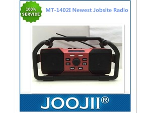 2015 Latest wholesale ABS Plastic portable heavy duty jobsite radio, China beat worksie radio speakers with usb sd card