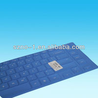 Customized Dark Blue Colored Rubber Laptop Keyboard Covers
