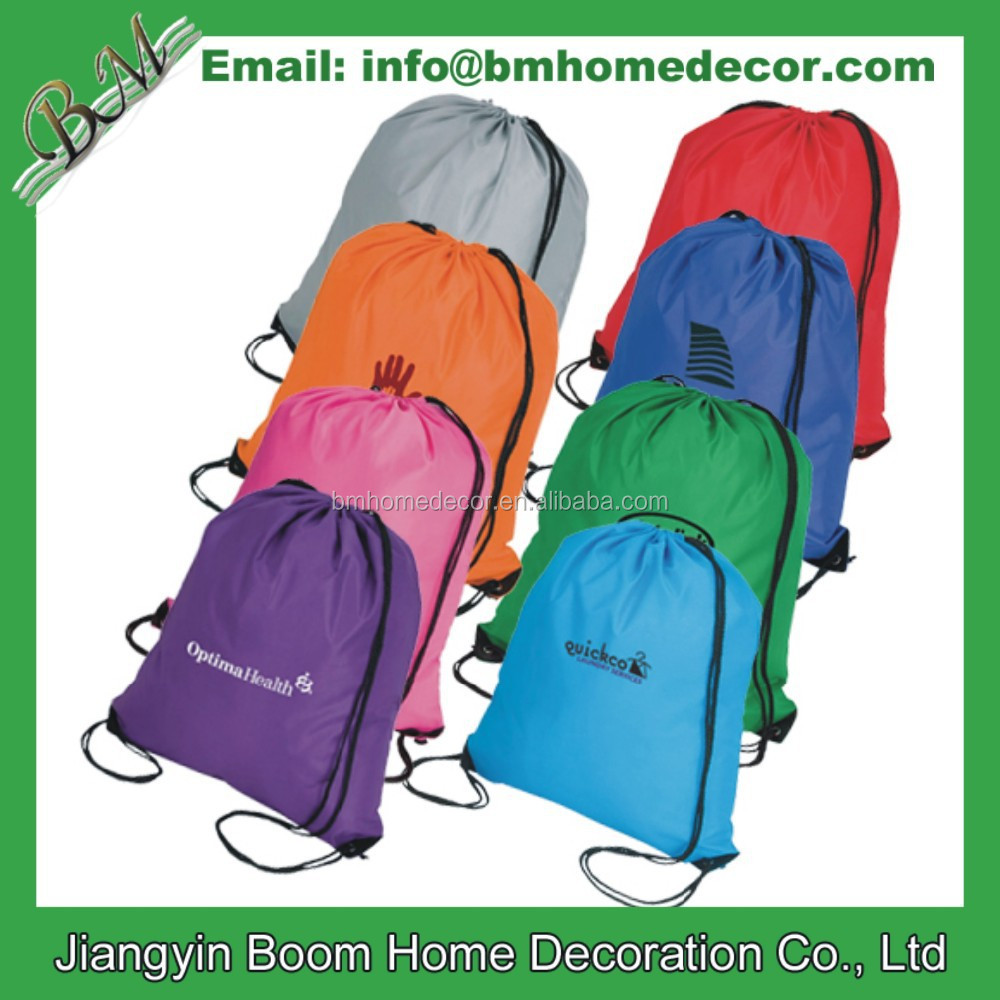 210 Denier Nylon Promo Custom Pantone Cinch Bag / Drawstring Backpack / Drawstring Bag