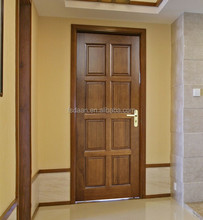 solid wooden 6 panel interior doors with frame