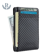 Wholesale front pocket slim RFID blocked medium-sized men's leather <strong>wallet</strong>
