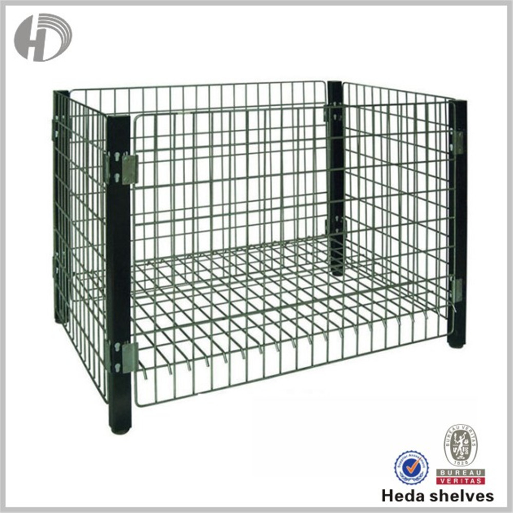 Customizable folding steel storage cage