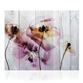 Flower Canvas Wall Art Creative Wall Decor Flower Picture Wood Board Painting for Living Room Bedroom Decor/KL170927-2